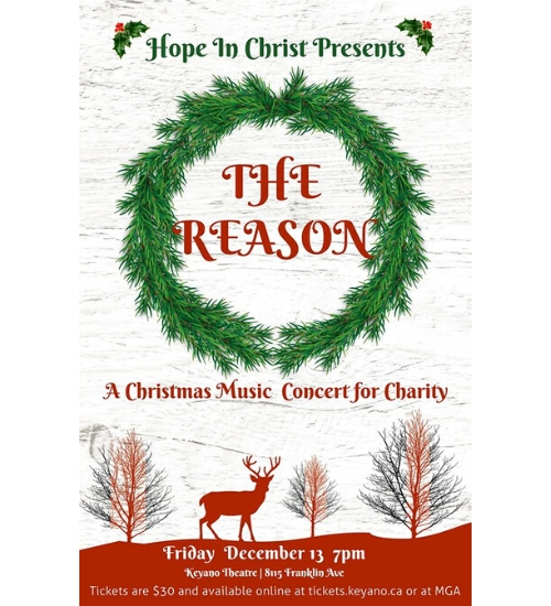 The Reason, A Christmas Music Concert for Charity @ Keyano College | Fort McMurray | Alberta | Canada